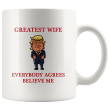 Load image into Gallery viewer, Greatest Wife Trump Thumbs Up Mug - Trump Mug