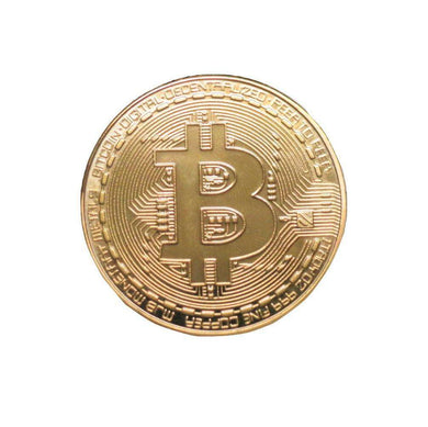 Bitcoin Gold Plated Color Physical Coin Cryptocurrency BTC Collectible Coin - Trump Mug