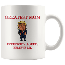 Load image into Gallery viewer, Greatest Mom Mother Trump Thumbs Up Mug - Trump Mug