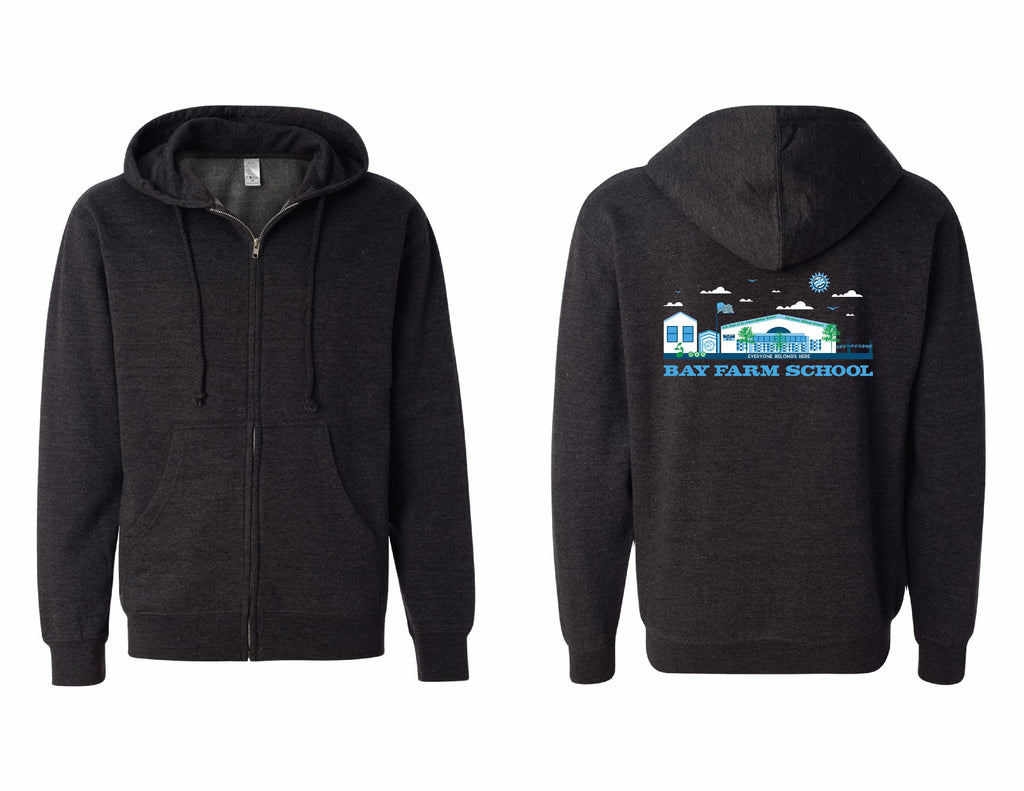 BAY FARM SCHOOL SCAPE ADULT ZIP HOODIES 2019/2020