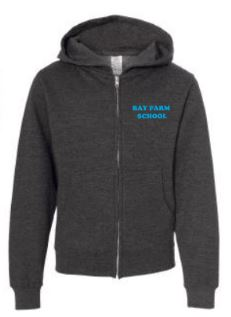 BAY FARM SCHOOL LOGO YOUTH ZIP HOODIE 2018/2019