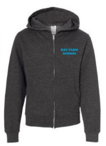 BAY FARM SCHOOL LOGO YOUTH ZIP HOODIE 2019/2020