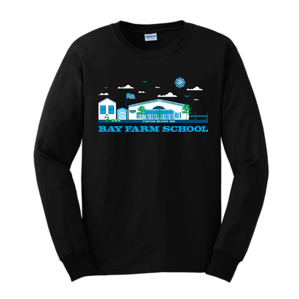 BAY FARM SCHOOL SCAPE ADULT LONG SLEEVE T-SHIRTS 2018/2019