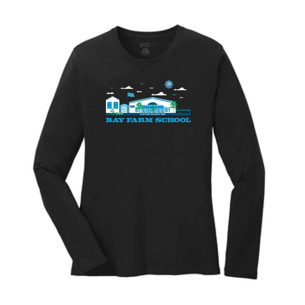 BAY FARM SCHOOL SCAPE WOMENS LONG SLEEVE T-SHIRTS 2018/2019