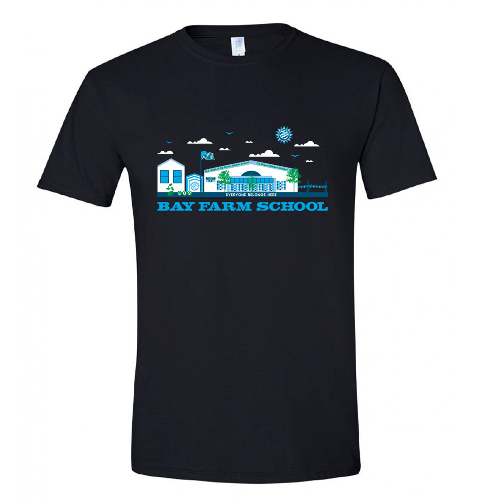 BAY FARM SCHOOL SCAPE ADULT T-SHIRTS 2019/2020