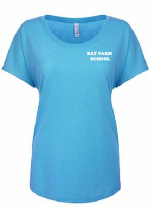 BAY FARM SCHOOL LOGO WOMENS SCOOP NECK T-SHIRT 2019/2020
