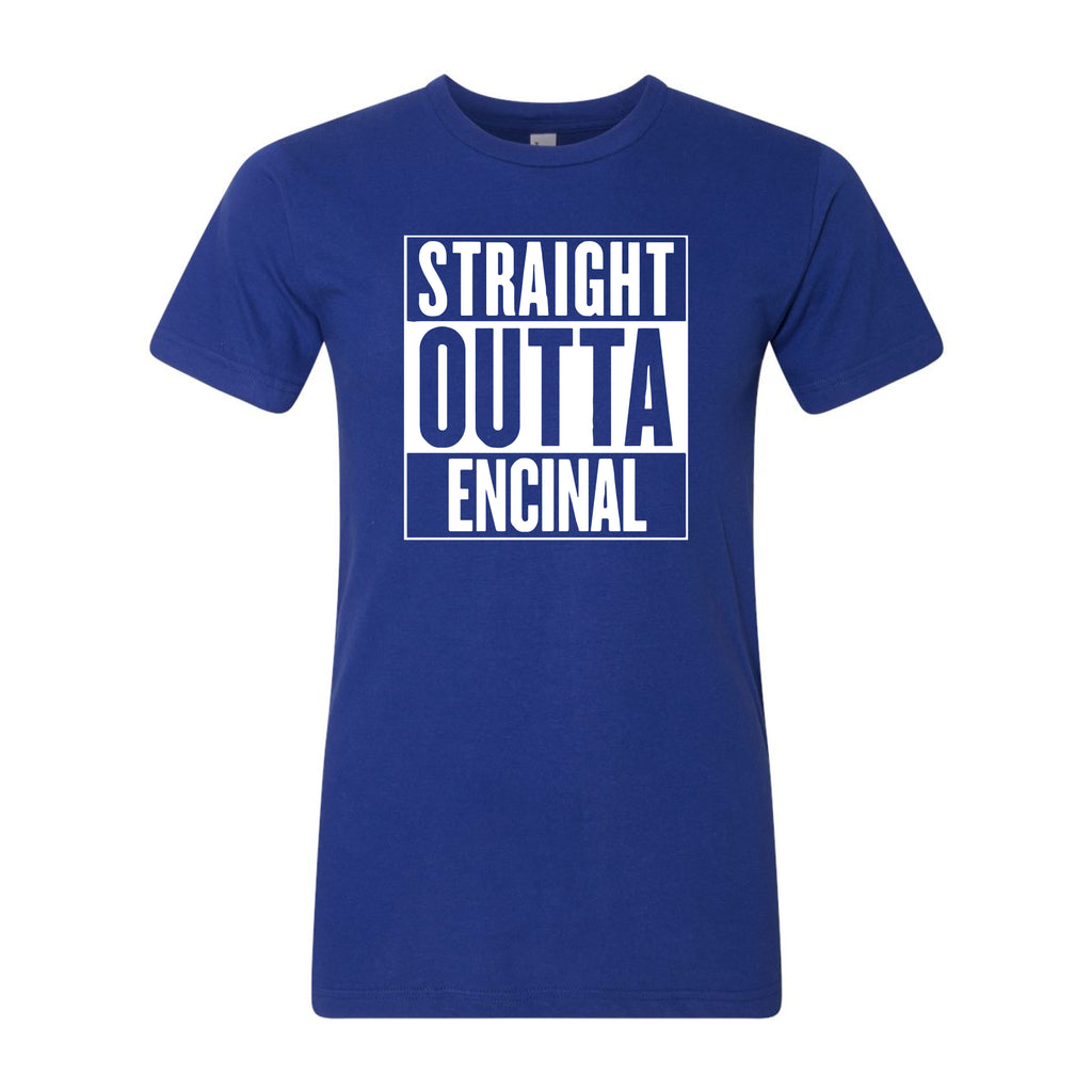 ENCINAL HIGH SCHOOL STRAIGHT OUTTA ENCINAL ADULT T-SHIRTS