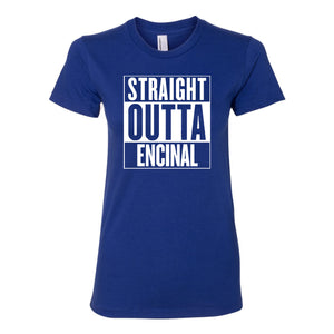 ENCINAL HIGH SCHOOL STRAIGHT OUTTA ENCINAL WOMENS T-SHIRT