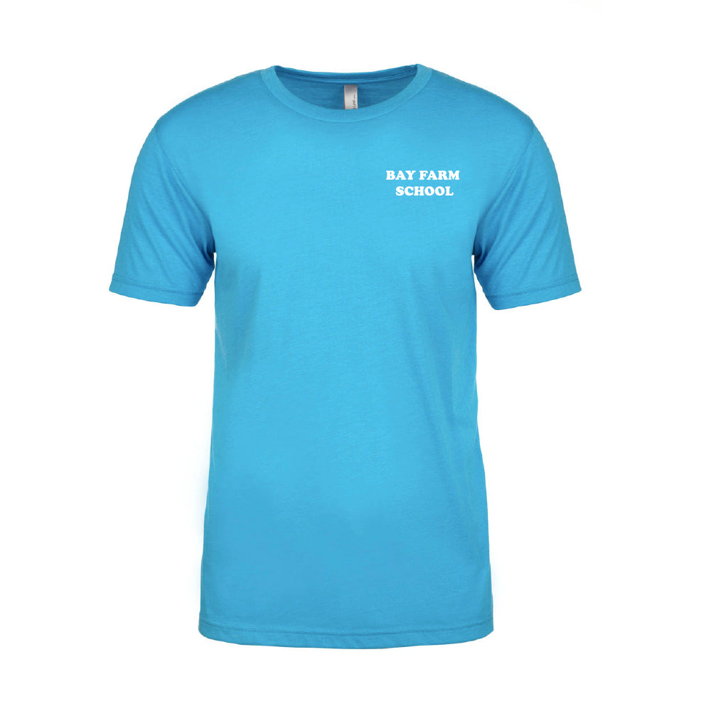 BAY FARM SCHOOL LOGO ADULT T-SHIRTS 2019/2020