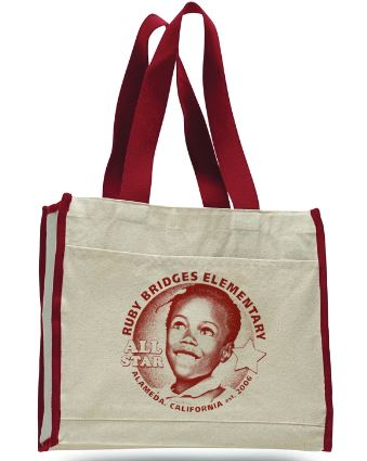 RUBY BRIDGES TOTE w/ CONTRAST-COLOR HANDLES