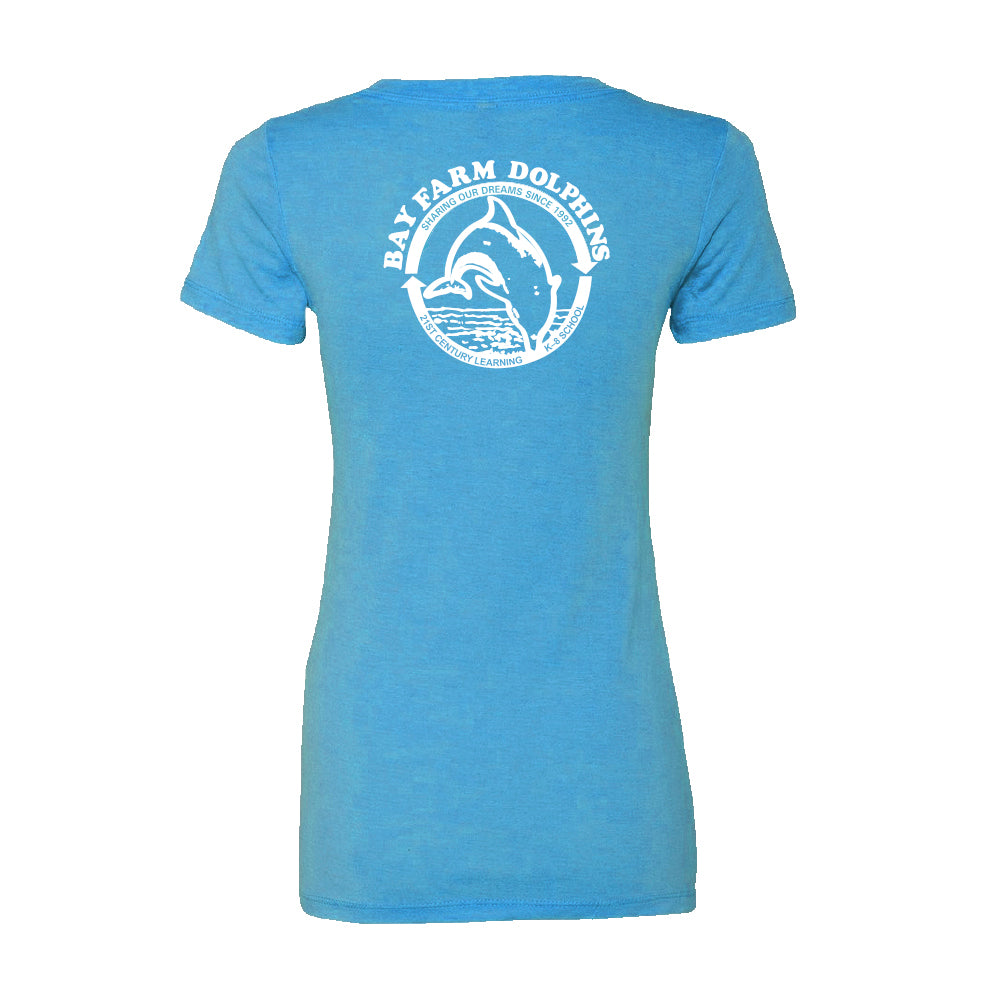 BAY FARM SCHOOL LOGO WOMENS V-NECK T-SHIRT  2019/2020
