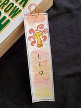Load image into Gallery viewer, Zodiac Signs Handmade Bookmark