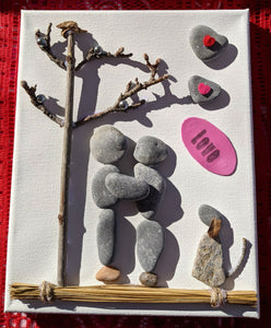 Couple Embracing - Pebble & Twig Love Collection