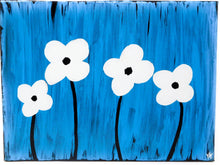 Load image into Gallery viewer, Simple Daisies - Set of 4, 9x12 canvases