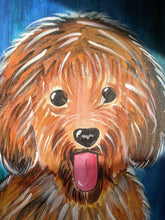 Load image into Gallery viewer, Original - Innocent Dog Canvas Painting