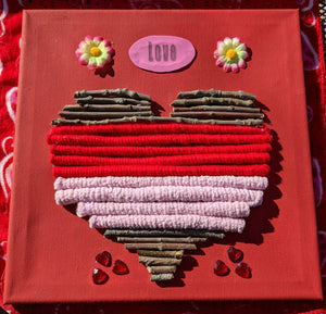 Folk Art Heart - Pebble & Twig Love Collection