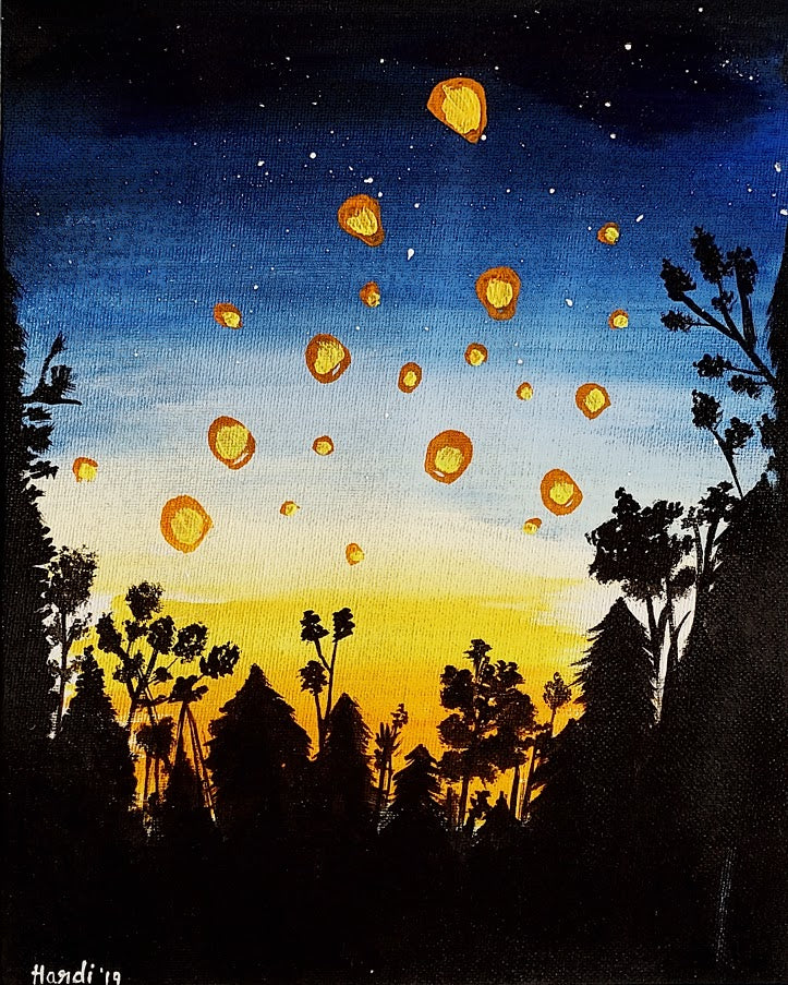 Lantern Canvas Painting
