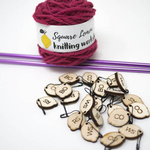 Laser Cut Square Lemon Stitch Markers