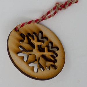 3D Laser Cut Wooden Christmas Snowflake Ornament