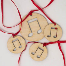 Load image into Gallery viewer, Laser Cut Wooden Christmas Ornaments