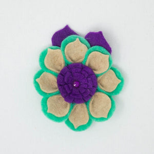 Felt Flower with Tie