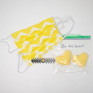 Face Masks with Paired Hearts