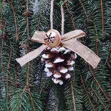 Load image into Gallery viewer, Long Leaf Pine Cone Glitter Ornament