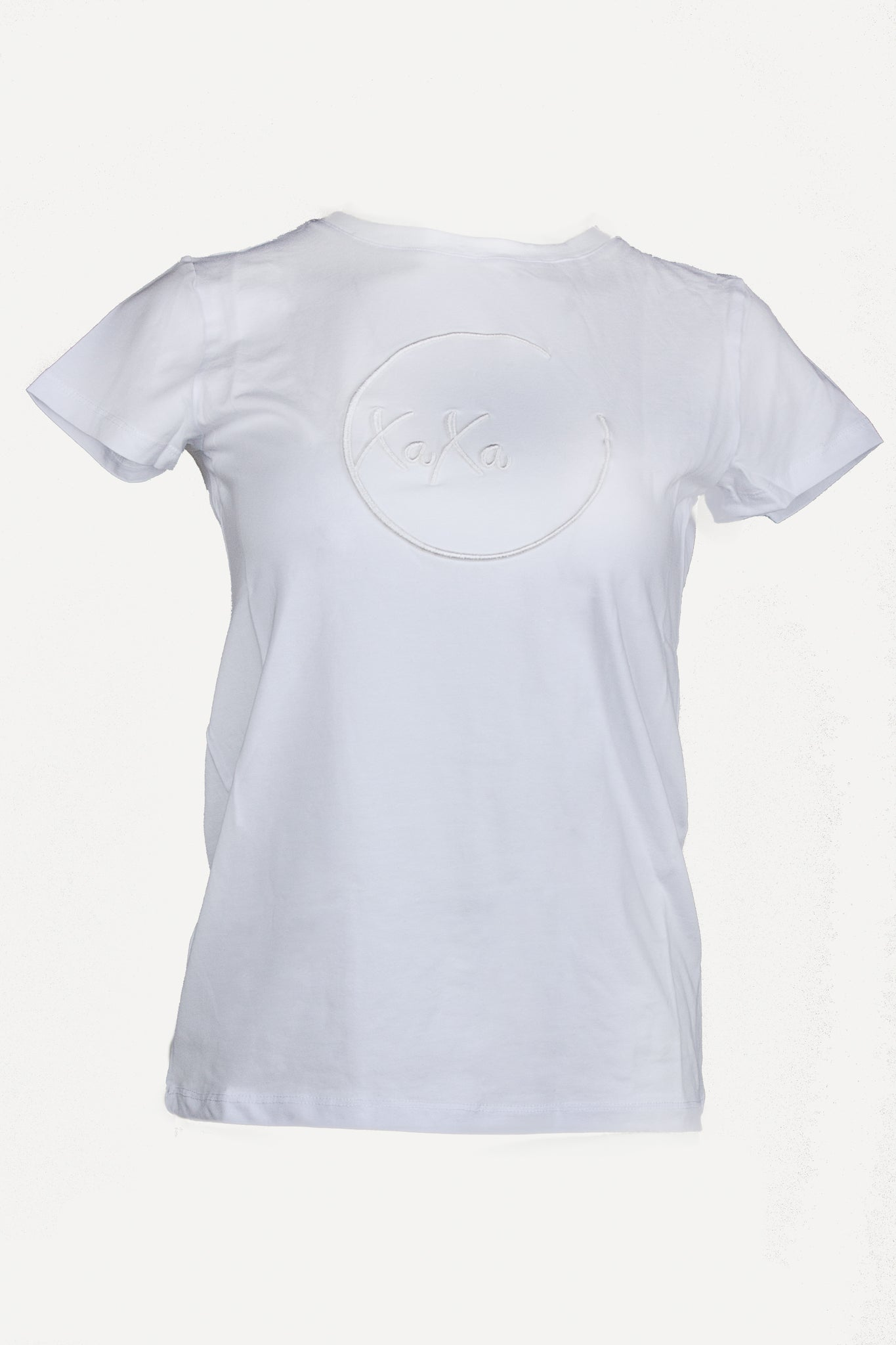 XaXa - White Logo on White T-Shirt