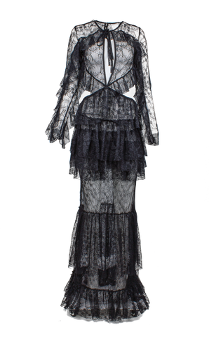 XaXa - Sensuous Lace Long Dress