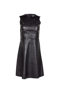 XaXa - Sassy Faux Leather Dress
