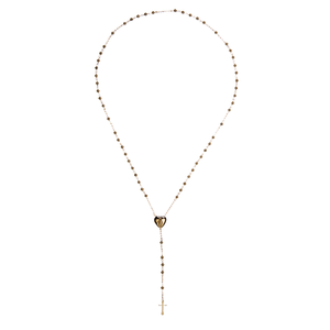 YC Shiny love necklace gold