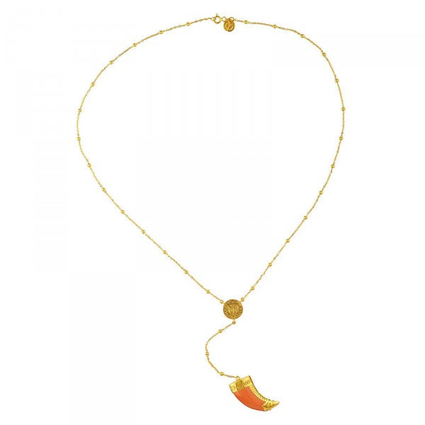 YC Hope and Dreams Necklace Orange Gold