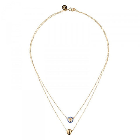 YC Panther Heads Necklace Gold