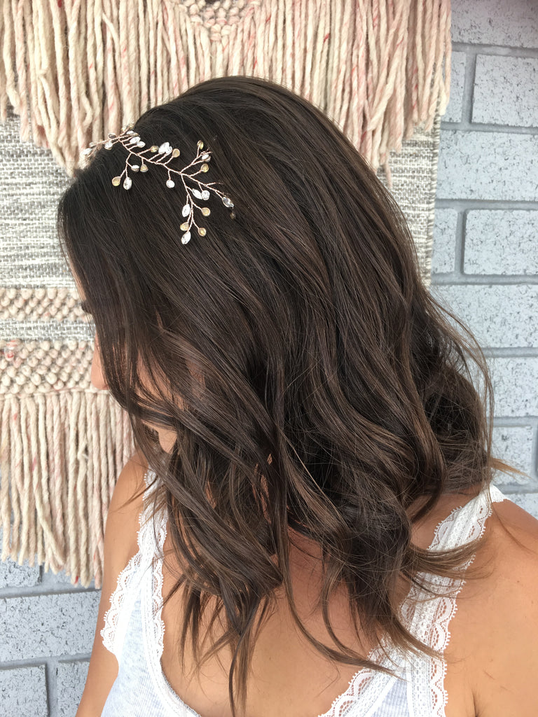 bohemian wedding textured wave bridal hair accessories