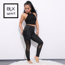Load image into Gallery viewer, Chrleisure Pocket Mesh Workout Leggings Women Sexy Activewear Push Up Pant Elastic Heart-Shaped High