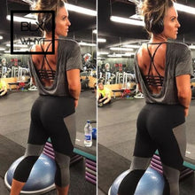 Load image into Gallery viewer, Hirigin Women Black Patchwork Sports Pants High Waist Fitness Leggings Running Gym Stretch Trousers
