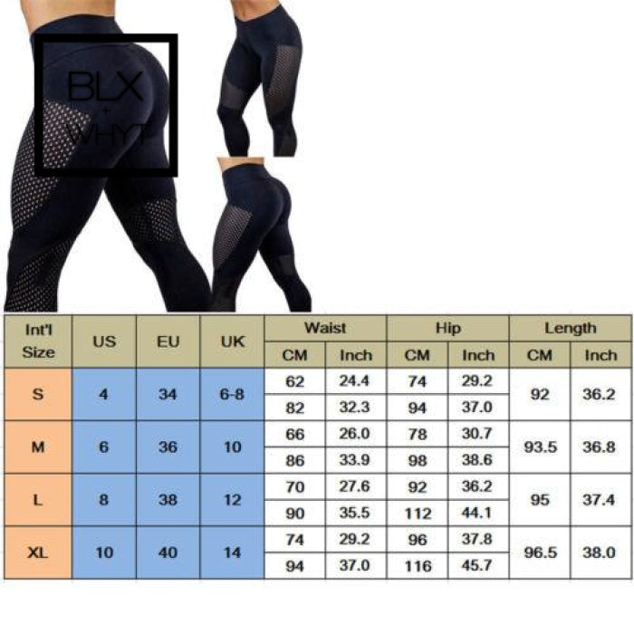 Hirigin Women Black Patchwork Sports Pants High Waist Fitness Leggings Running Gym Stretch Trousers