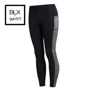 Leggings Women Fitness Workout Sportswear Skinny Push Up Pencil Pants Solid With Blocked Patchwork