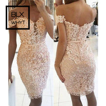 Load image into Gallery viewer, New Women Formal Party Dress Summer Floral Lace Short Sleeve Sexy V Neck Bodycon Dresses Lady