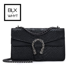 Snake Fashion Brand Women Bag Alligator Pu Leather Messenger Designer Chain Shoulder Crossbody