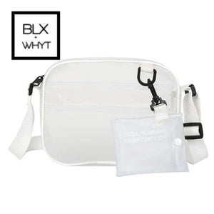 Summer 2 In 1 Bag Women Zipper Bags Designer 2019 Newest Pvc Jelly Shoulder Female White Transparent