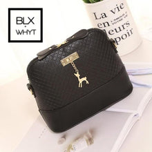 Load image into Gallery viewer, Women Messenger Bags Fashion Mini Bag With Deer Toy Shell Shape Shoulder Handbag Black / (20Cm<Max