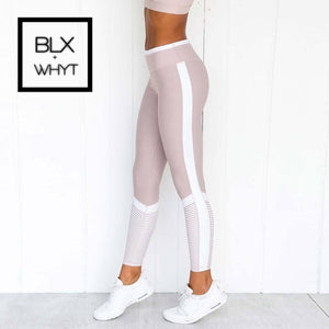 Women Pink High Waist Booty Leggings Push Up Workout Fitness Active Pants Girls Sports Female Slim