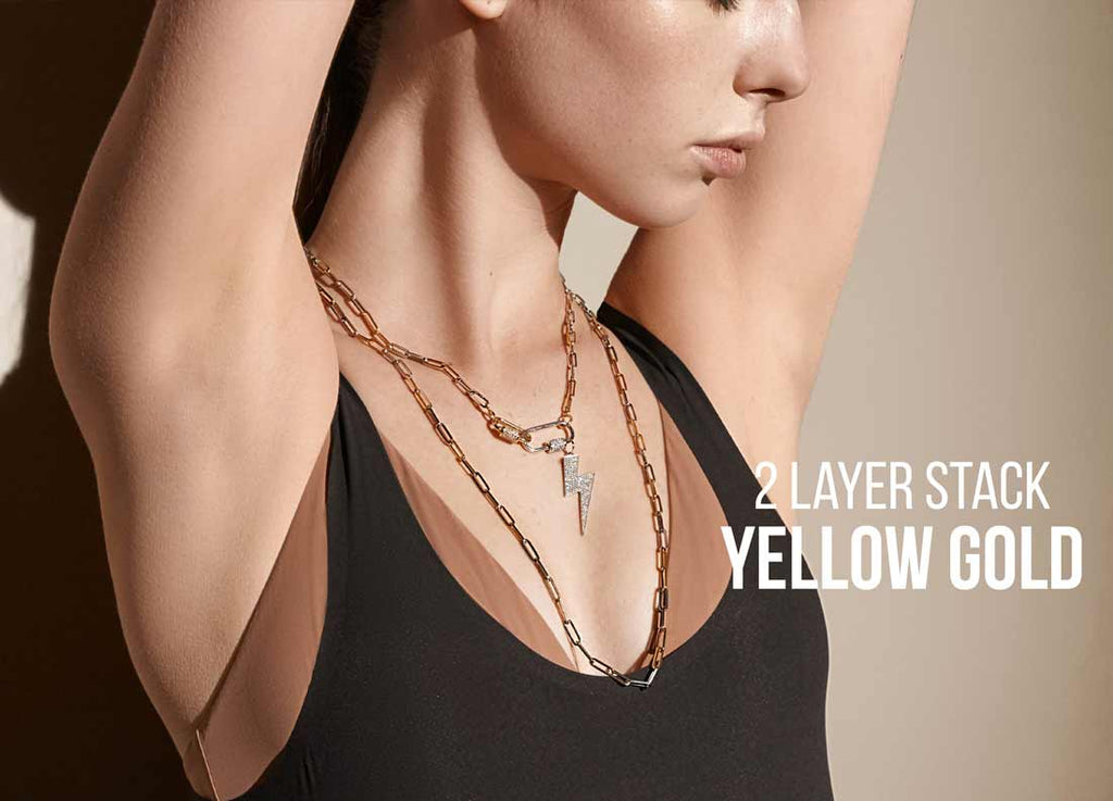 2 Layer Necklace in Yellow Gold
