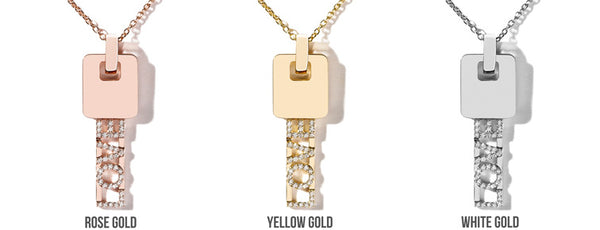 Differences between rose, yellow and white gold