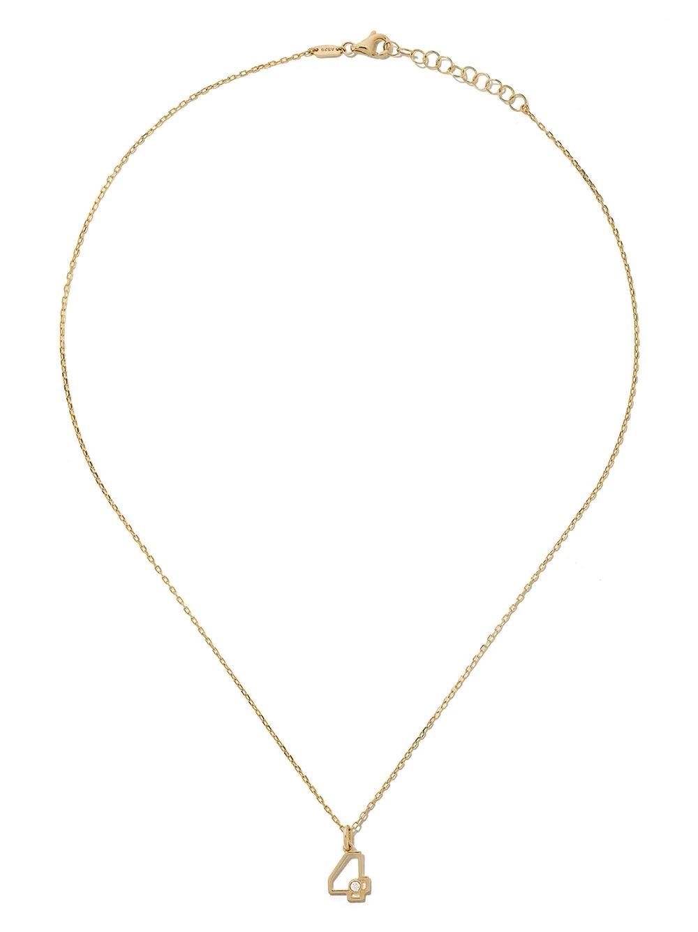 Four Necklace in Yellow Gold