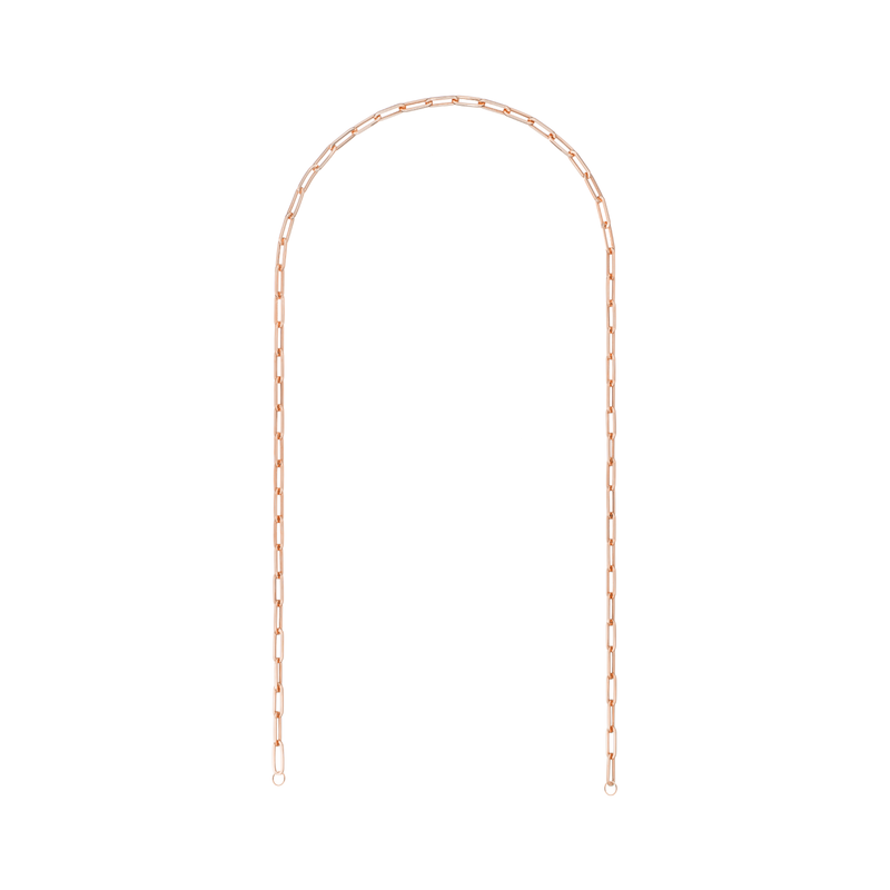 18K Pink Gold 16' Small Links Chain Necklace - Retrofitting