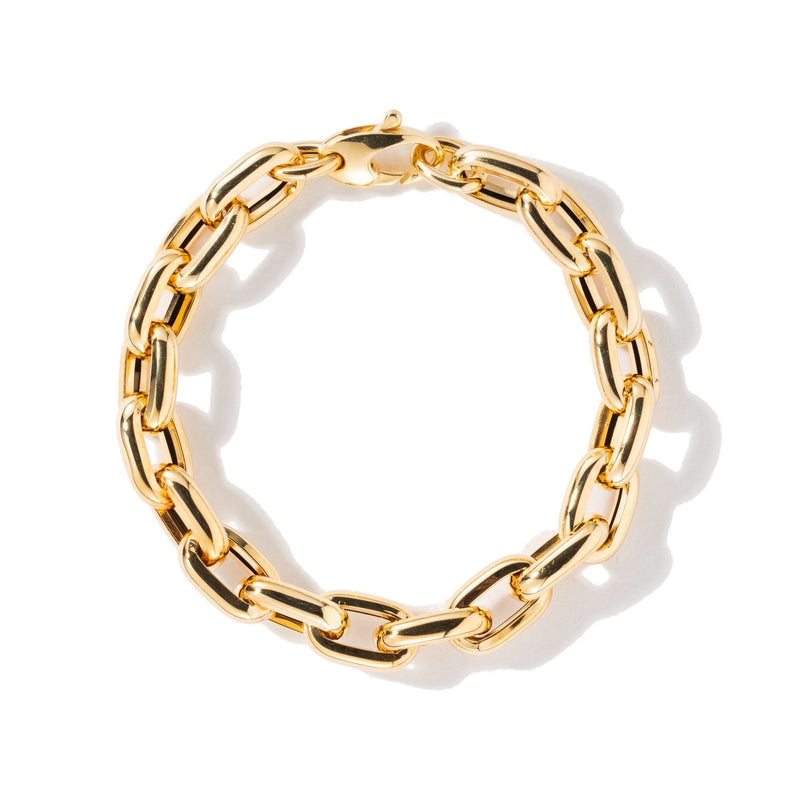 18K Yellow Gold 7.5' Bold Links Chain Bracelet