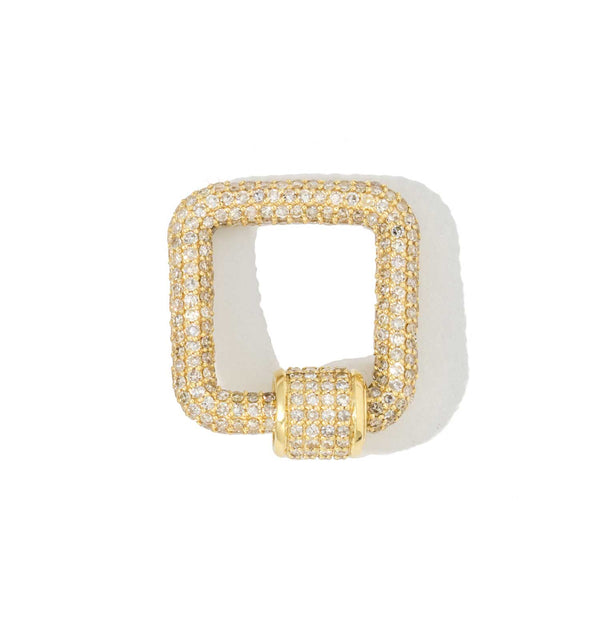 Yellow Pave Small Square Carabiner