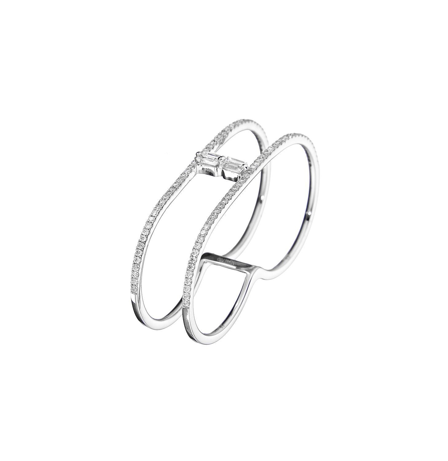 Baguette Duo Diamond Double-Branch 